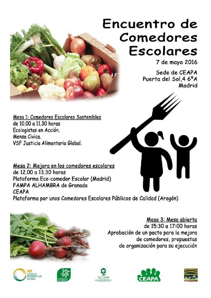 Encuentro sobre comedores escolares de la CEAPA – Alimentando otros ...